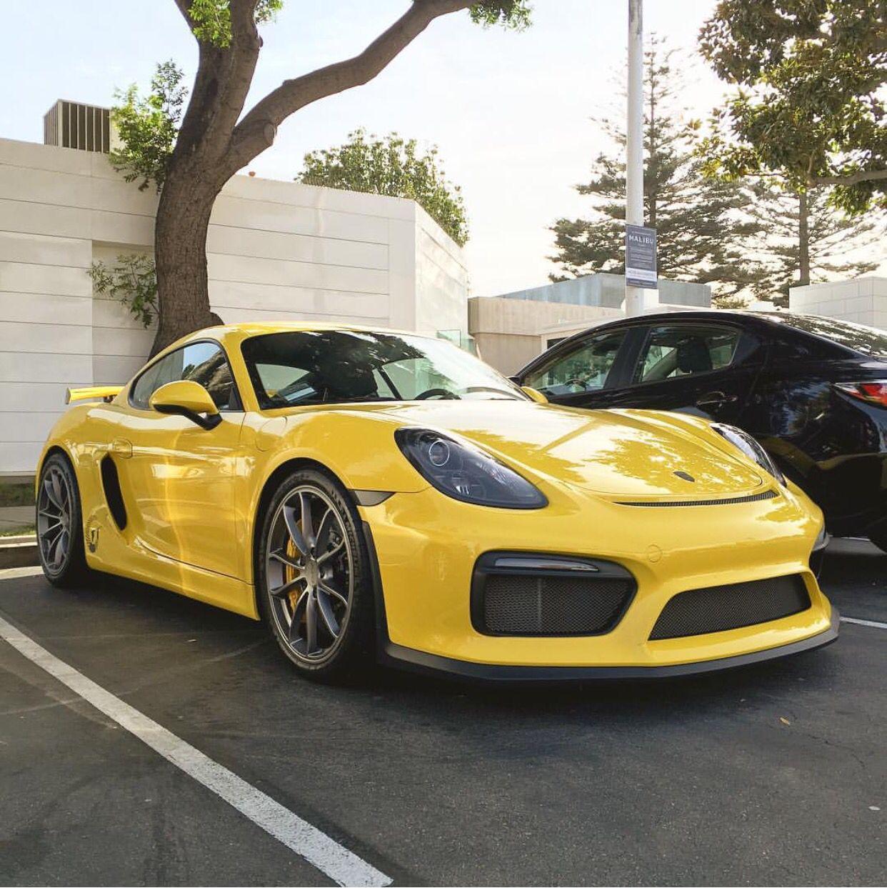 Porsche Cayman: Porsche Cayman GT4 Painted In Racing Yellow Photo Taken By