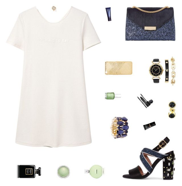 """""""New Year's Eve"""" by belenloperfido ❤ liked on Polyvore featuring MANGO, Marni, Dune, Anne Klein, Bling Jewelry, Essie, Chanel, MAC Cosmetics, Space NK and Rodial"""