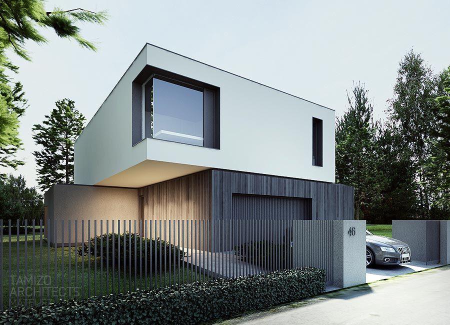 M house warsaw tamizo architects flachdach haus for Minimalistisches haus grundriss