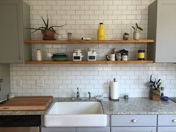 How To Install Heavy Duty Floating Shelves For The Kitchen
