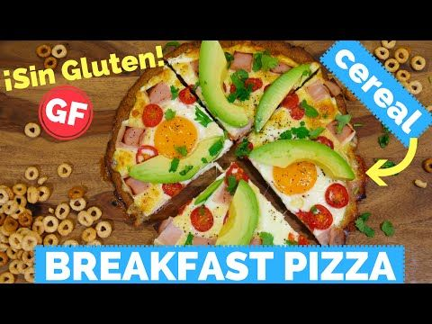 Gluten Free Breakfast Pizza - MADE WITH CEREAL! Yup, I used Gluten Free Cheerios to create this savory gluten free pizza, so delicious and perfect for brunch! -  La Cooquette