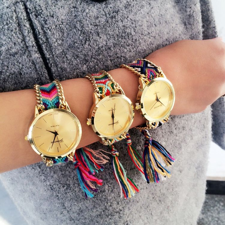 Artilady mix colors ladies Geneva quartz watches Elephant Friendship Bracelet wristwatches relogios femininos 2015 relojes