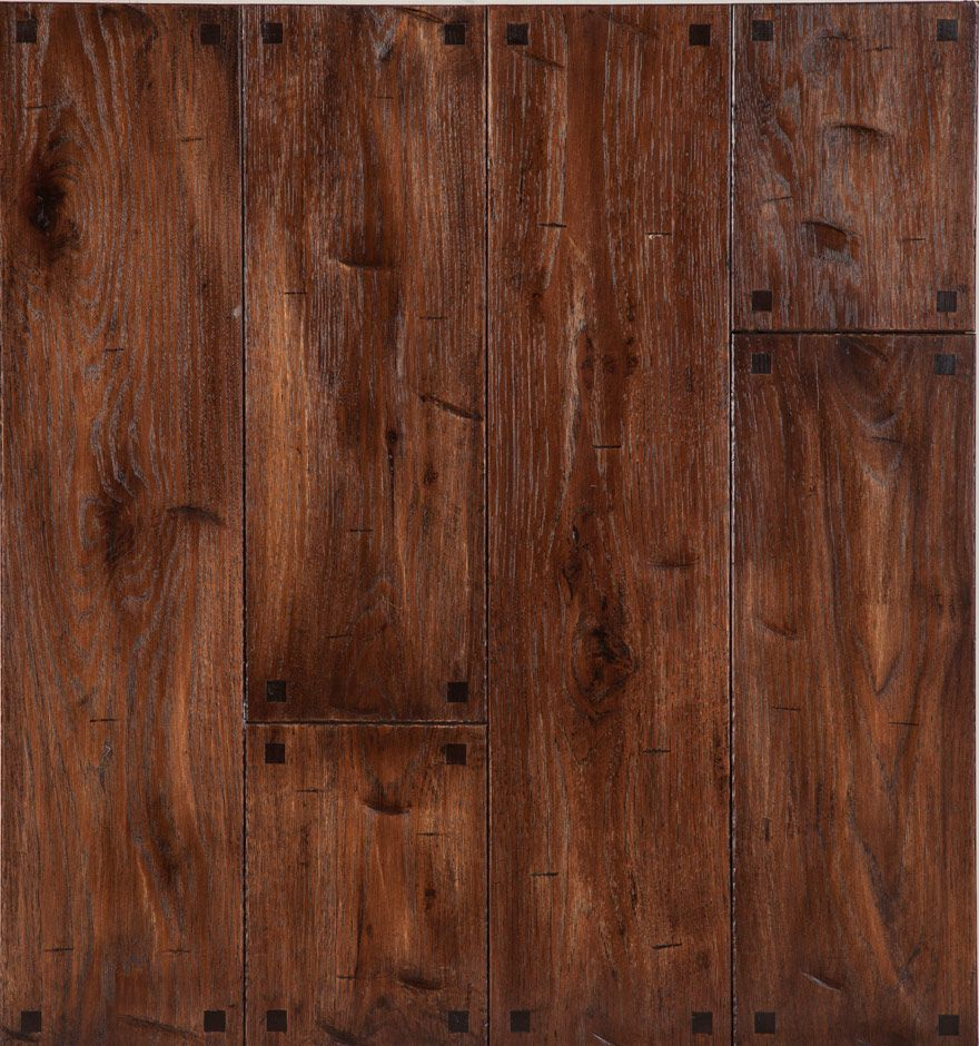 Peg Hardwood Flooring Textured Square Pegs In Hickory