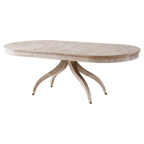 Newman Modern Classic Vintage Natural Mahogany Oval Dining Table