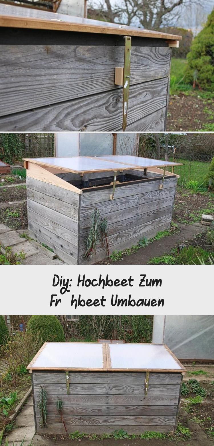 Diy Hochbeet Zum Fruhbeet Umbauen In 2020 Outdoor Storage Outdoor Storage Box Outdoor Decor