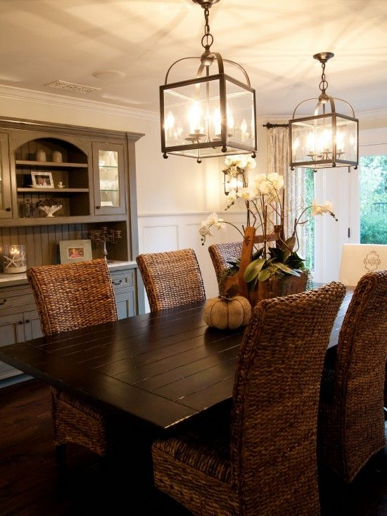 Love This Lighting Casual Dining Rooms Neutral Dining Room Dining Room Decor