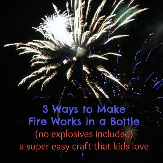 how to make fireworks craft