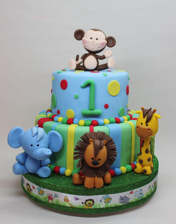 Jungle for Boy Cake by Violeta Glace Birthdays Cakes Pinterest