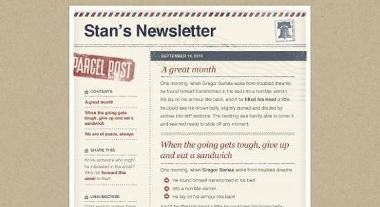 Collection Of Free Ready Made Newsletter Templates
