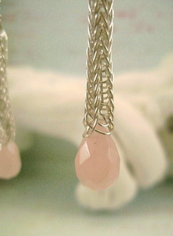 viking knitted earrings
