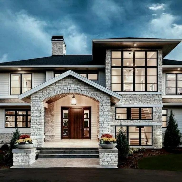 Unique Home Exterior Design: 25+ Beautiful Modern Farmhouse Exterior Design Ideas 00006