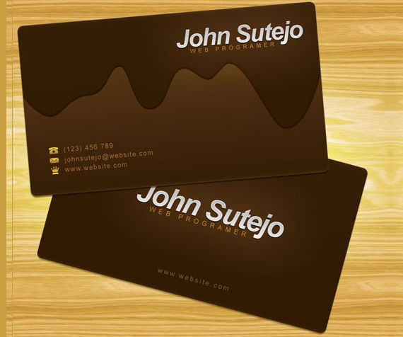 Create a molten chocolate business card in photoshop editorial create a molten chocolate business card in photoshop colourmoves