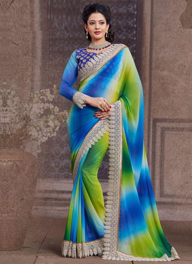 Bulk Georgette Designer Sarees Collection - Buy Now @ http://www.suratwholesaleshop.com/1021B-Incredible-Bemberg-Stone-Work-Party-Wear-Designer-Saree?view=catalog