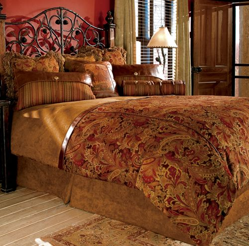 Rust Bronze Color Amber Bed Quilts