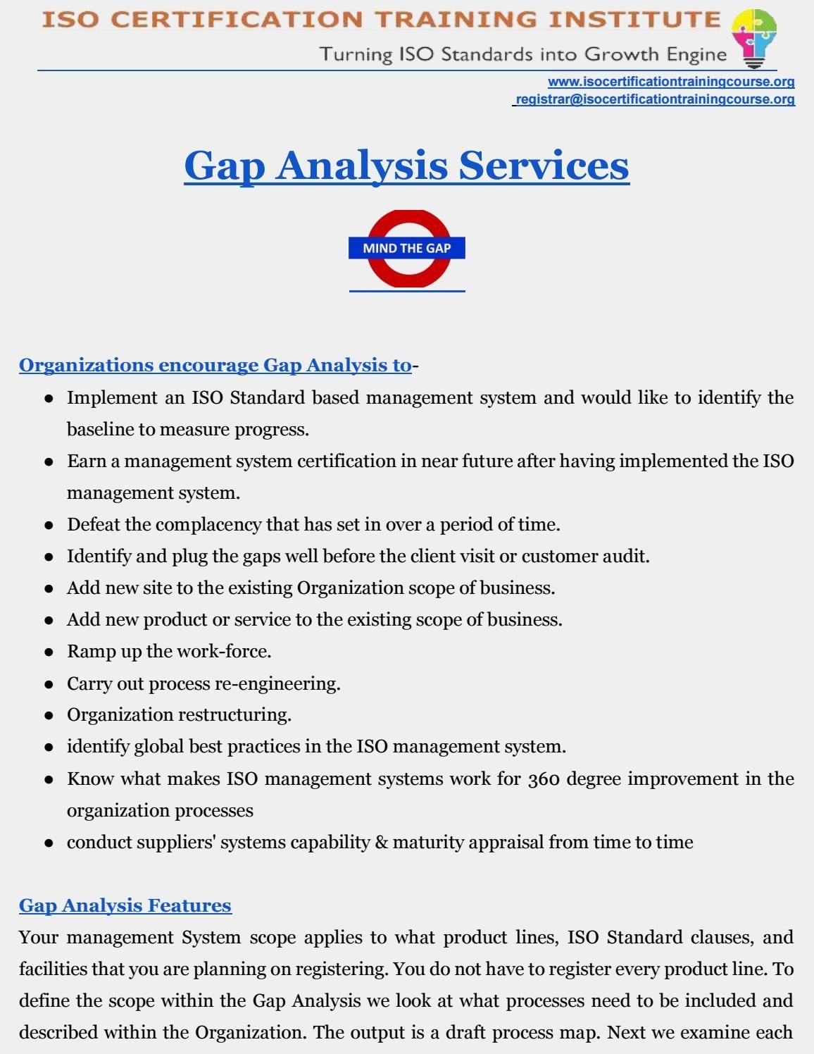 Gap Analysis  Management