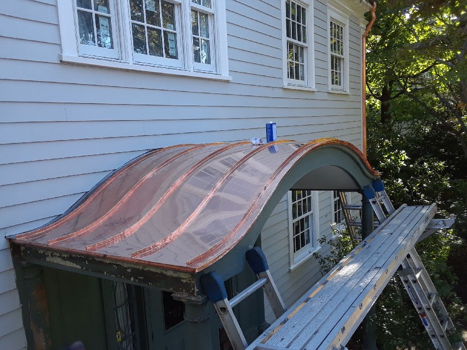 Nothing Says Curb Appeal Like A Custom Copper Accent Roof Metal Roof Architecture Roof