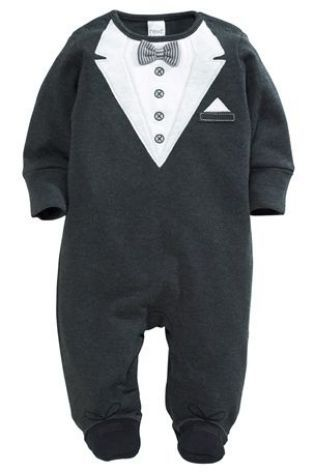 4073e7feb25a Buy Tuxedo Sleepsuit (0mths-2yrs) from the Next UK online shop