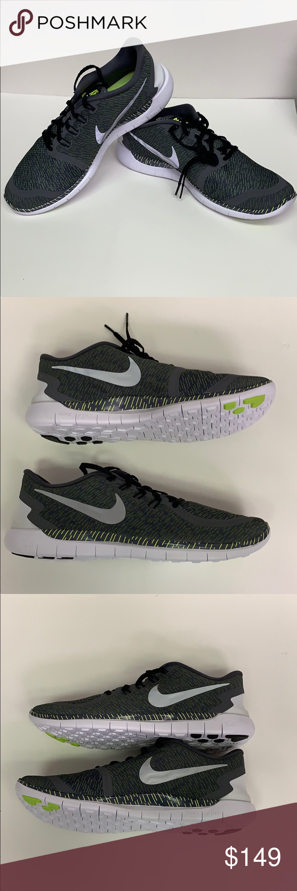 the best attitude 1189b e9431 Nike Mens Free 5.0 Print Dark Grey Rflct Size 12 Nike Mens Free 5.0 Print