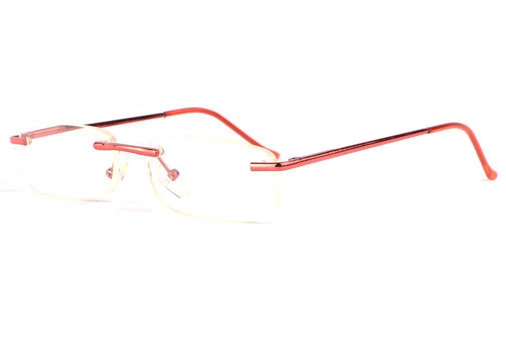Lunettes loupe percees rouge monture confrot et discrète Vylia de marque  Loupea, belles lunettes lecture a940a6003c7