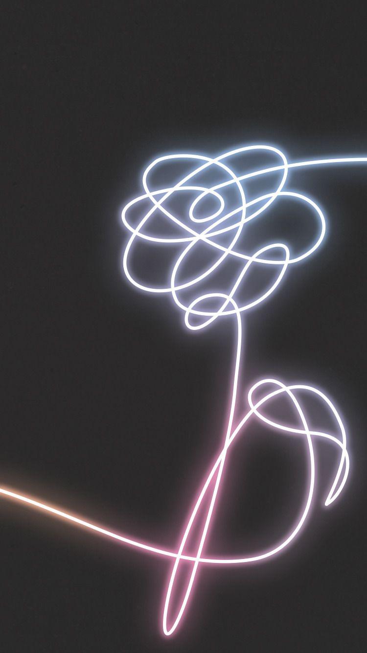 Bts Neon Flower Love Yourself Kpop Wallpaper Lockscreen