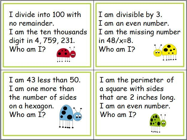 Free samples of math riddles for the numbers 1-100. Get a set of ...
