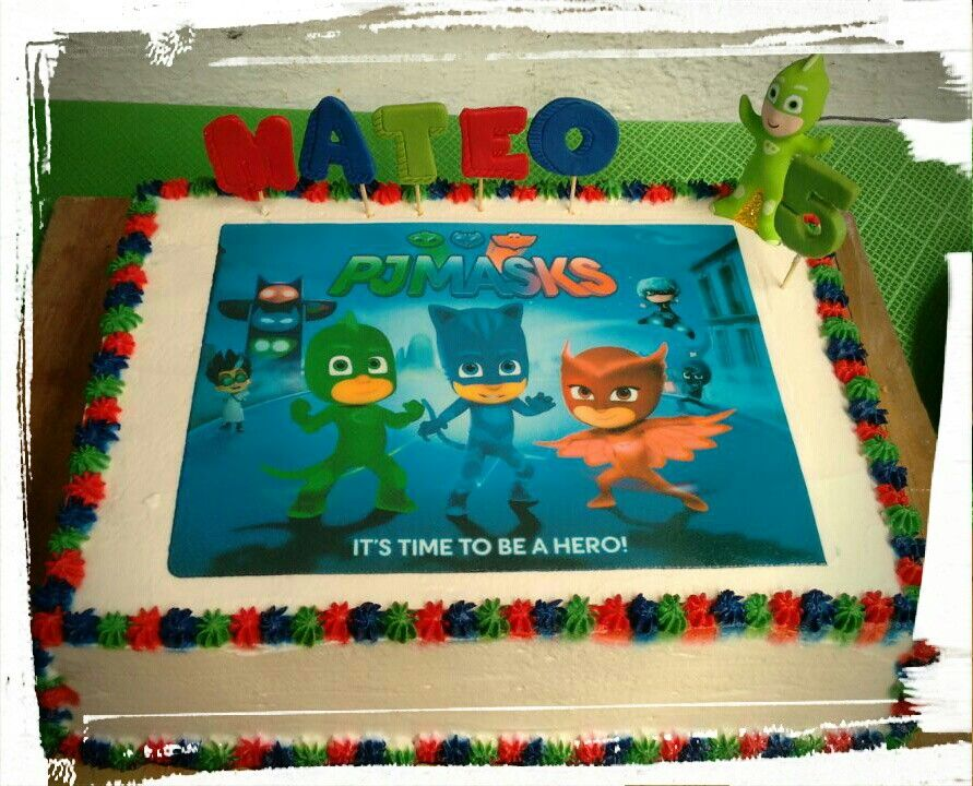 pj mask cake con imágenes  reposteria