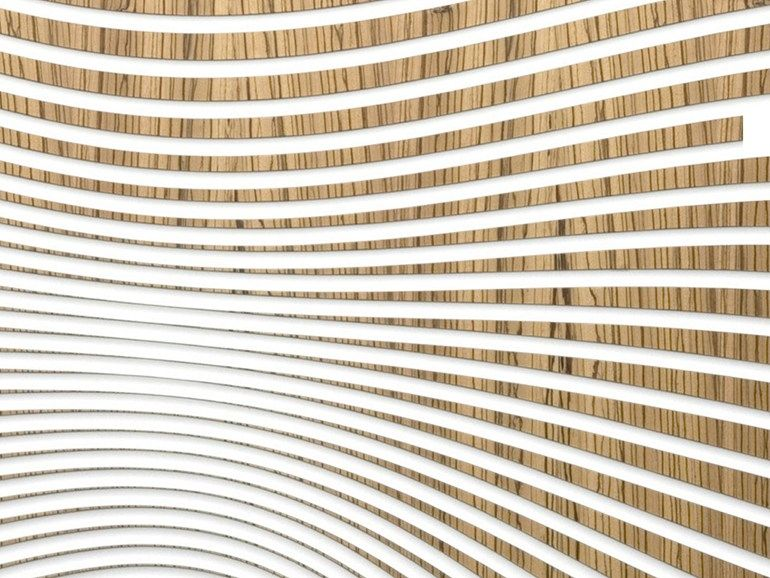 Staron 174 And Mdf 3d Wall Panel Zen Wave Hybrid Zebrawood