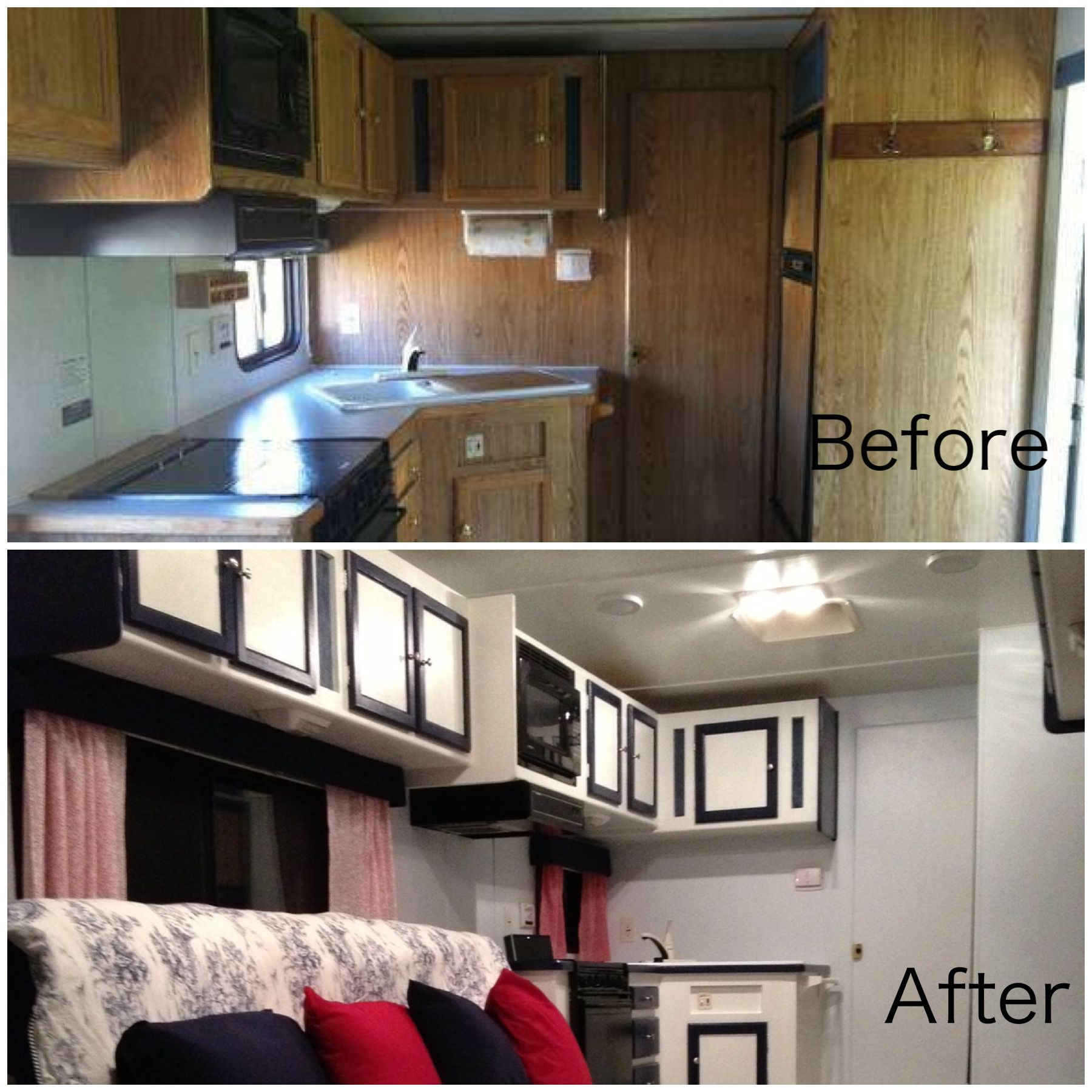 High Quality Travel Trailer Remodel  Removed All Trailer Furniture, Repaired Walls,  Painted Ceiling, Walls