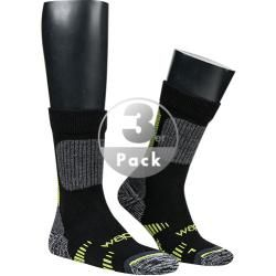 Photo of wapiti men's trekking socks, merino wool microfiber, black-lemon gray Wapiti