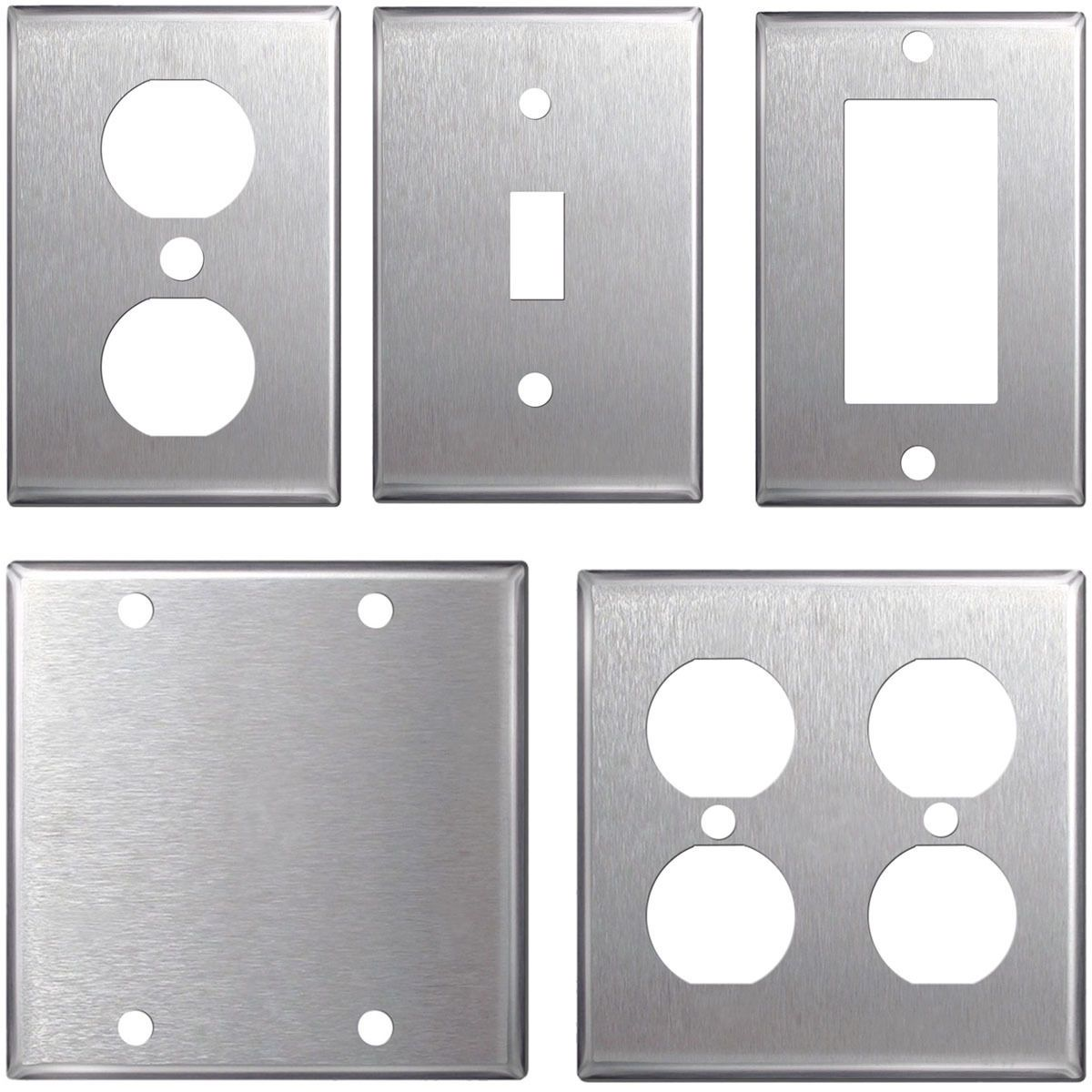 Stainless Steel Light Switch Plates Switch Plates And Outlet Covers 43412 Stainless Steel Wall Plates