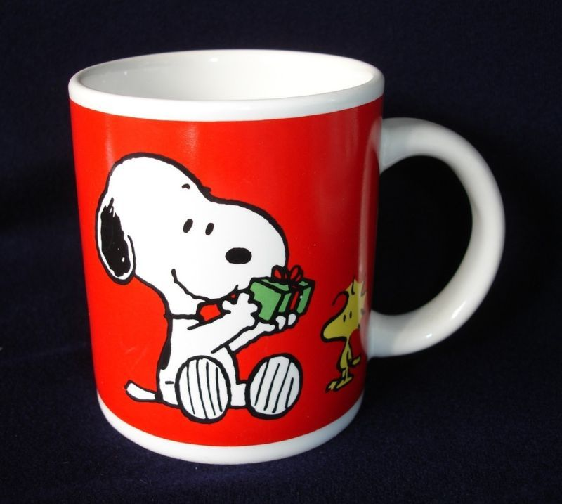 Snoopy and Woodstock Christmas Mug Christmas mugs
