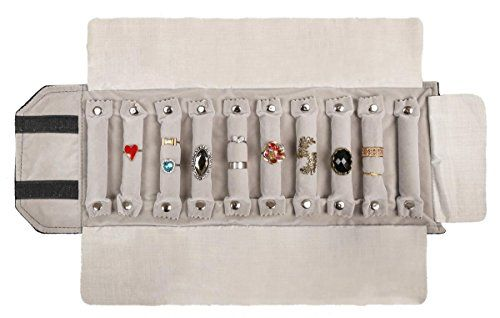 WODISON Travel Velvet Jewelry Roll Earrings Rings Necklaces Organizer Clutch Bag