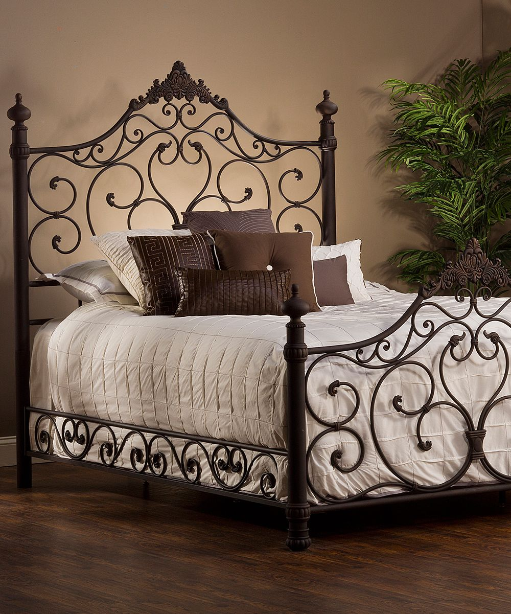 Brown Baremore Bed Affordable Bedroom Furniture Iron Bed