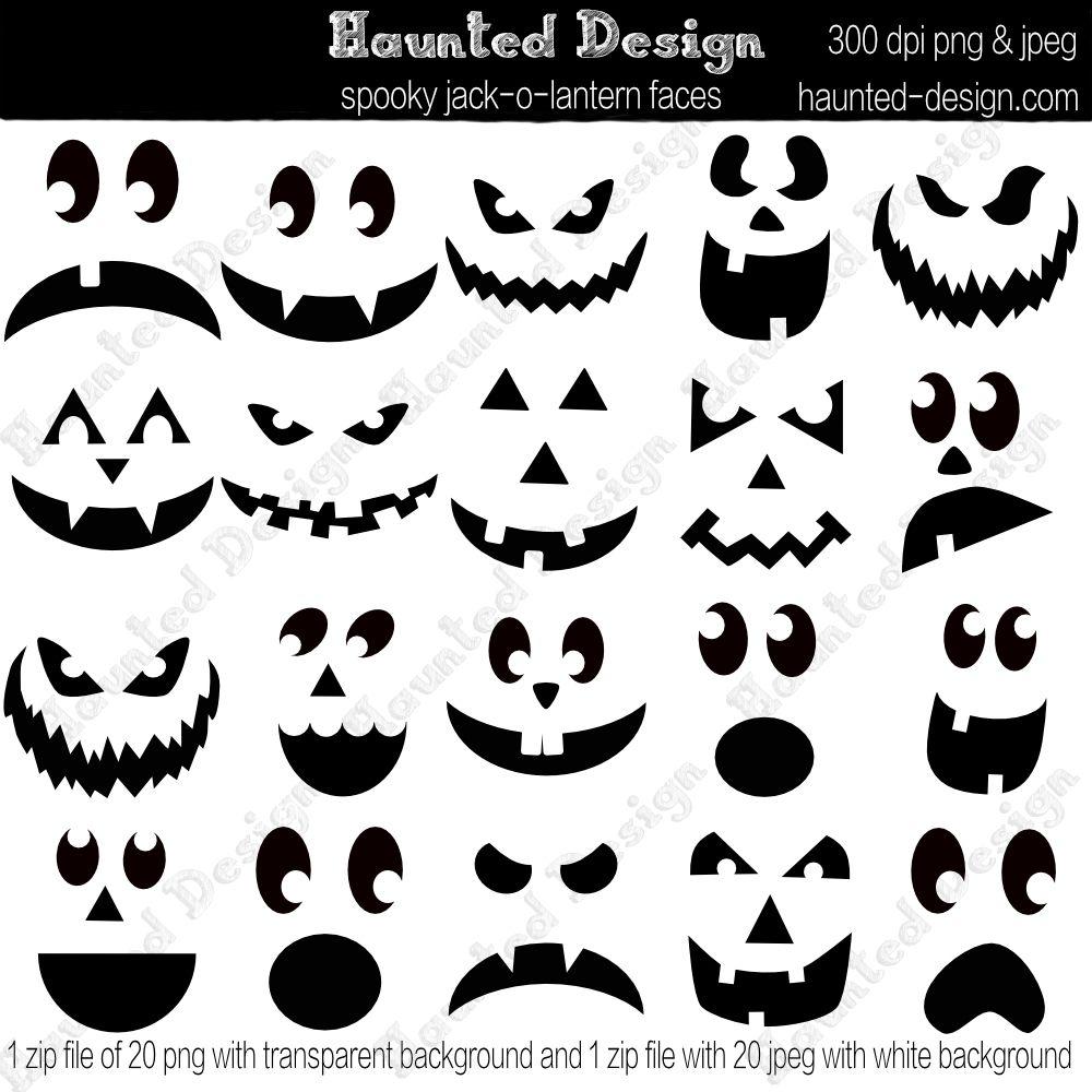 JackoLantern Spooky Faces Digital Download JPEG with