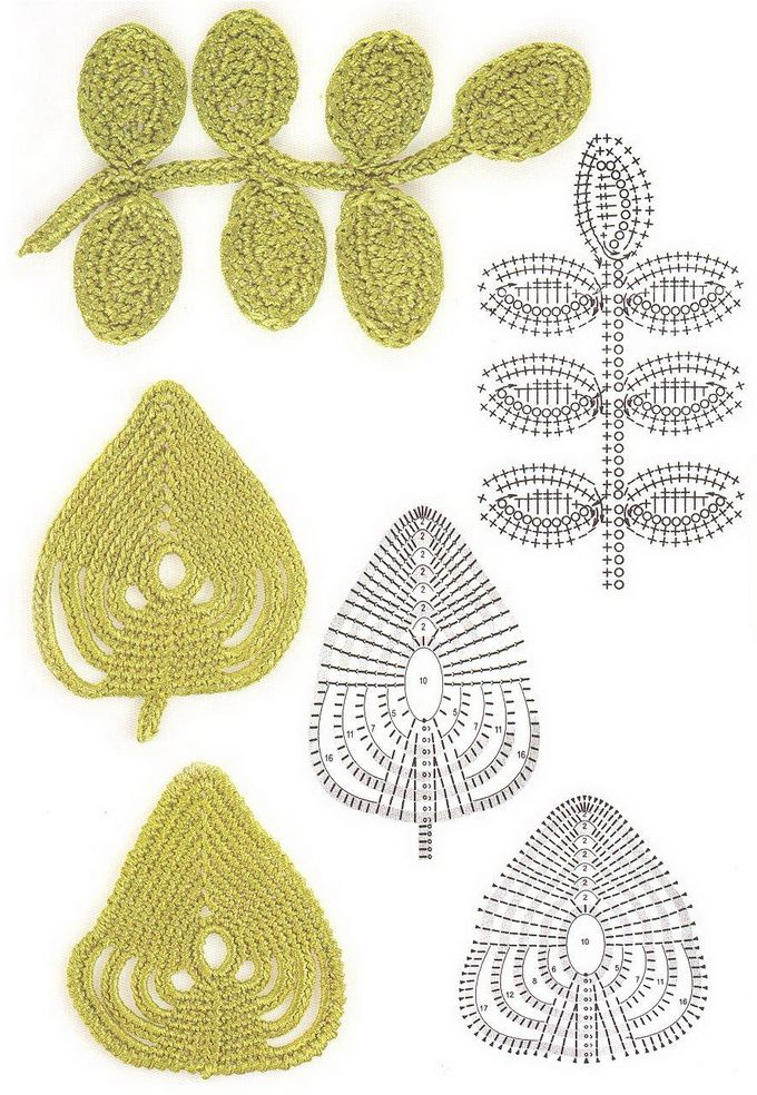 leaves patterns http://www.irishcrochetlace.com/index.php?option ...