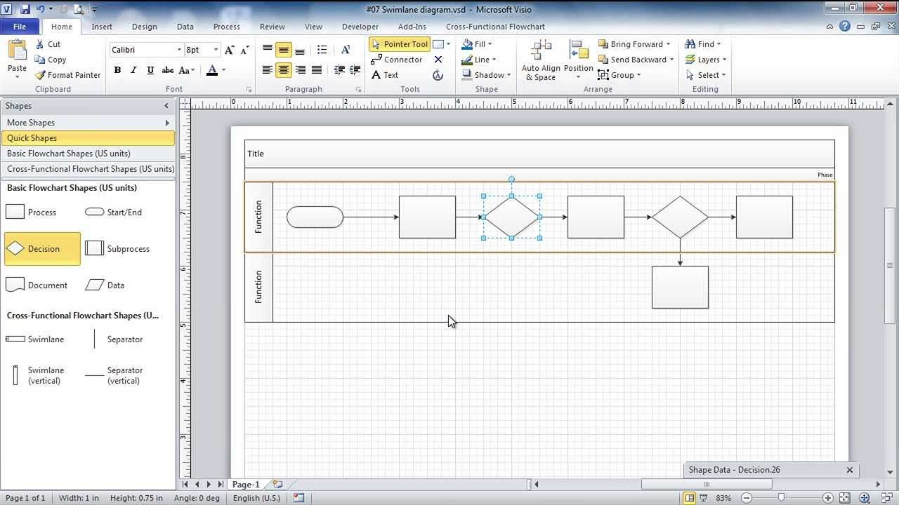 Getting Started With Visio 19 Flowcharts And Swimlane Diagrams Gantt Chart Templates Diagram Flow Chart Template