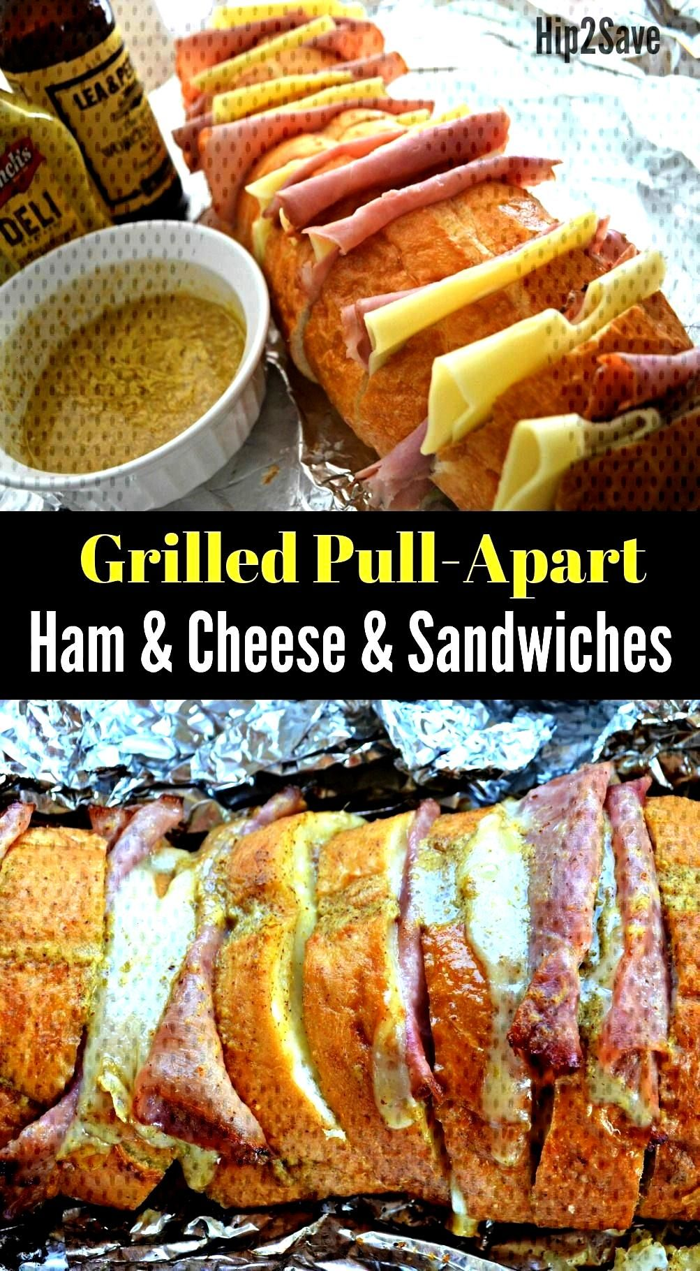 Ham and Cheese Pull-Apart Sandwiches (Fun Camping Meal Idea) - Hip2Save - If you love ham and chee