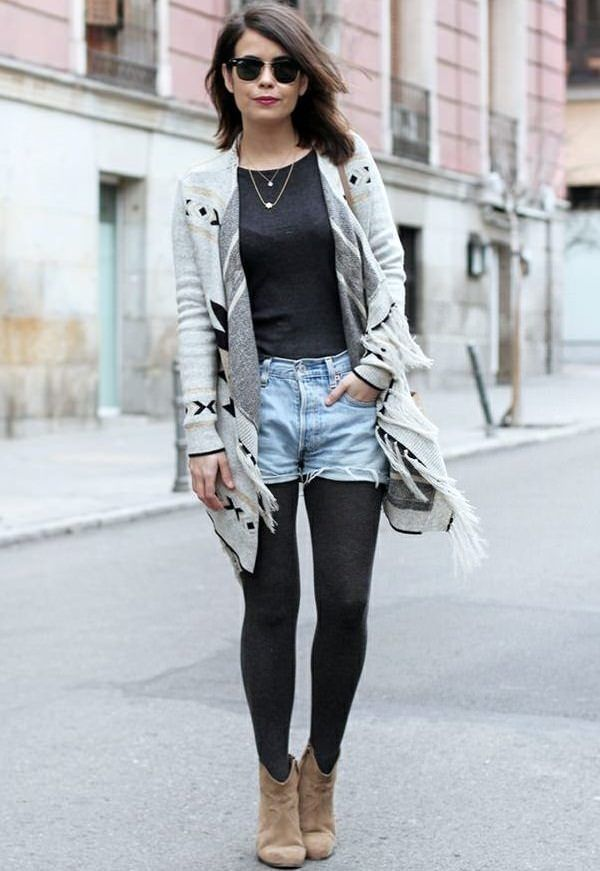 18 cute ways to wear leggings in style outfit ideas. Black Bedroom Furniture Sets. Home Design Ideas