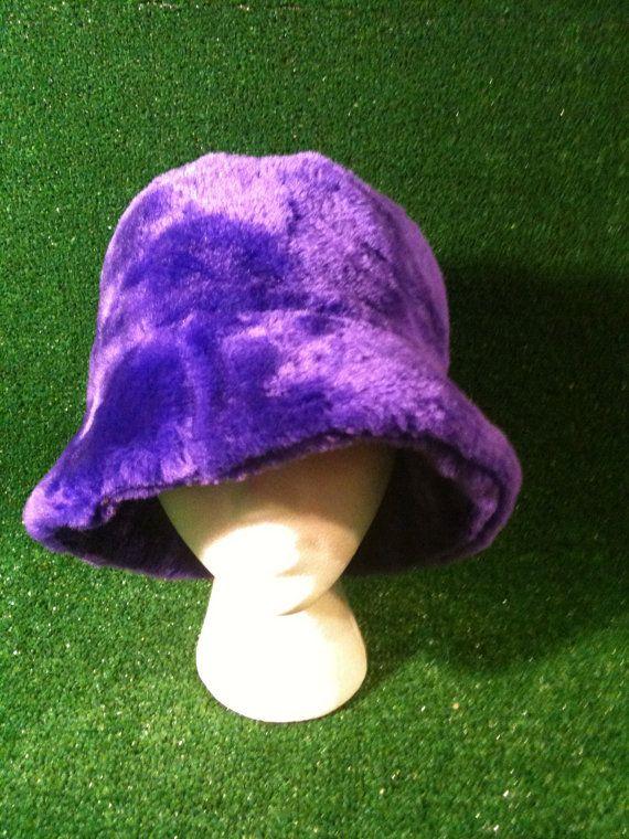 Purple Furry Bucket Hat