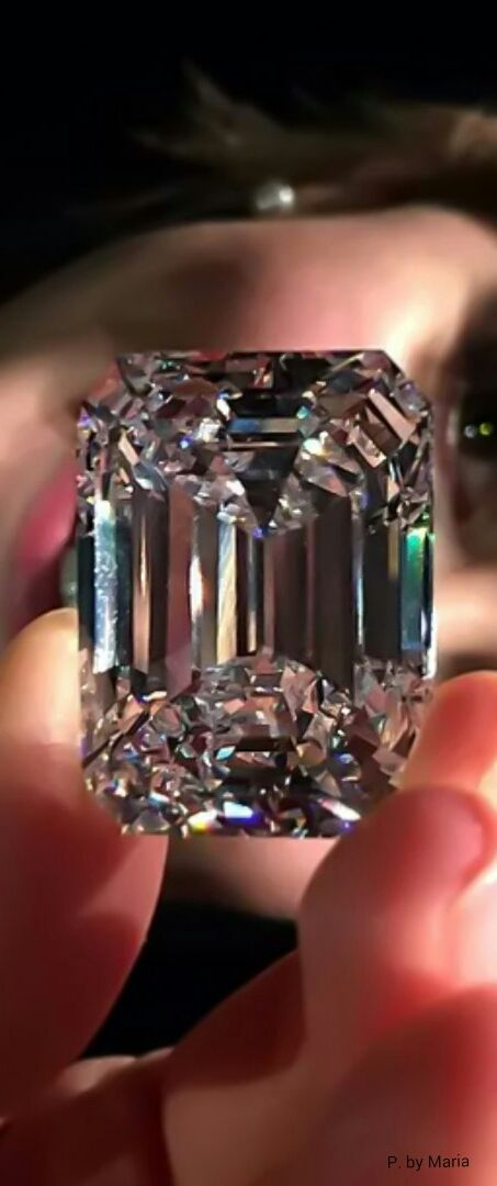 A 100 carat Emerald-cut Diamond via: