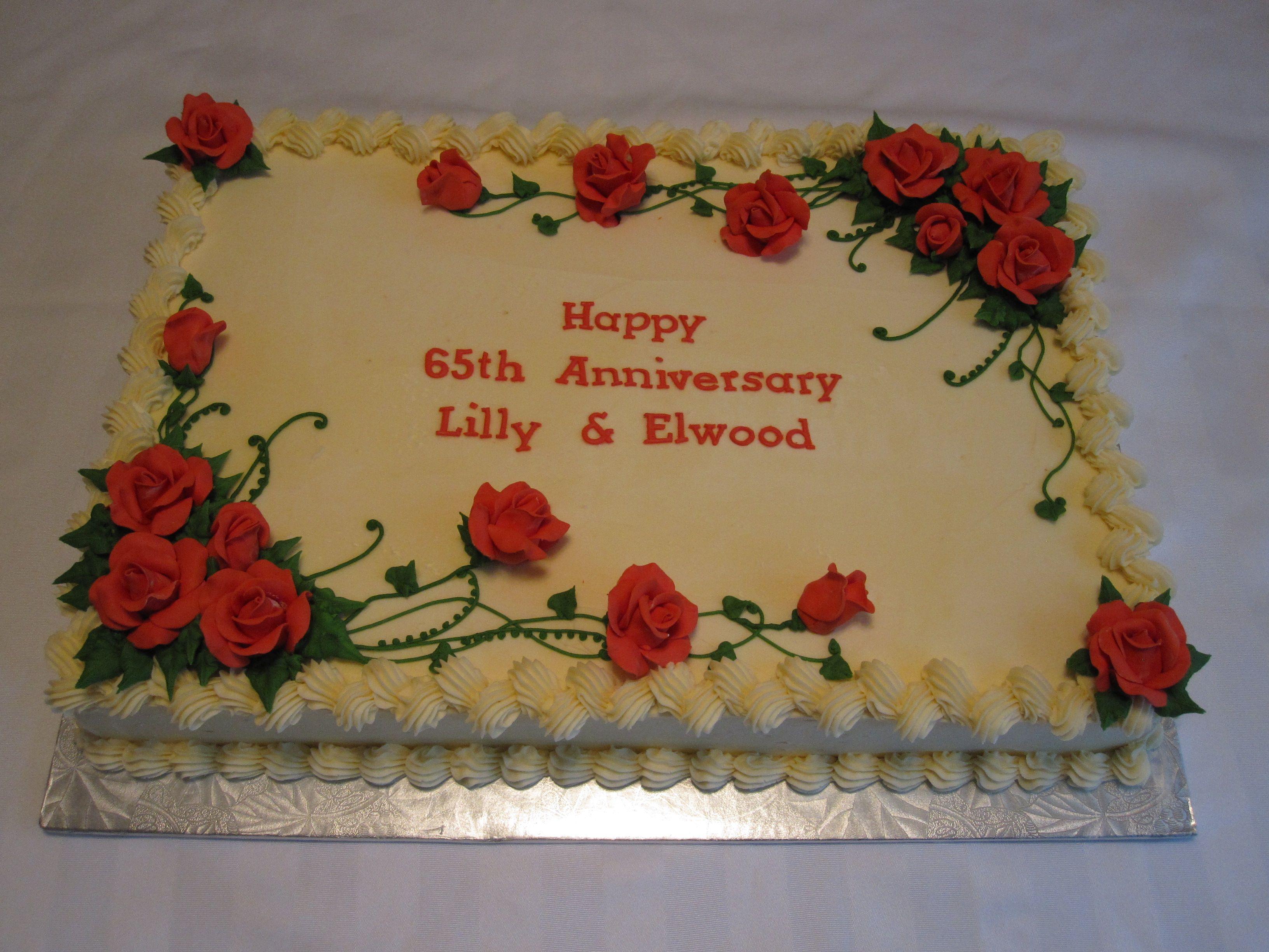 Red Rose Sheet Cake Birthday Sheet Cakes Square Cake Design Cake Decorating