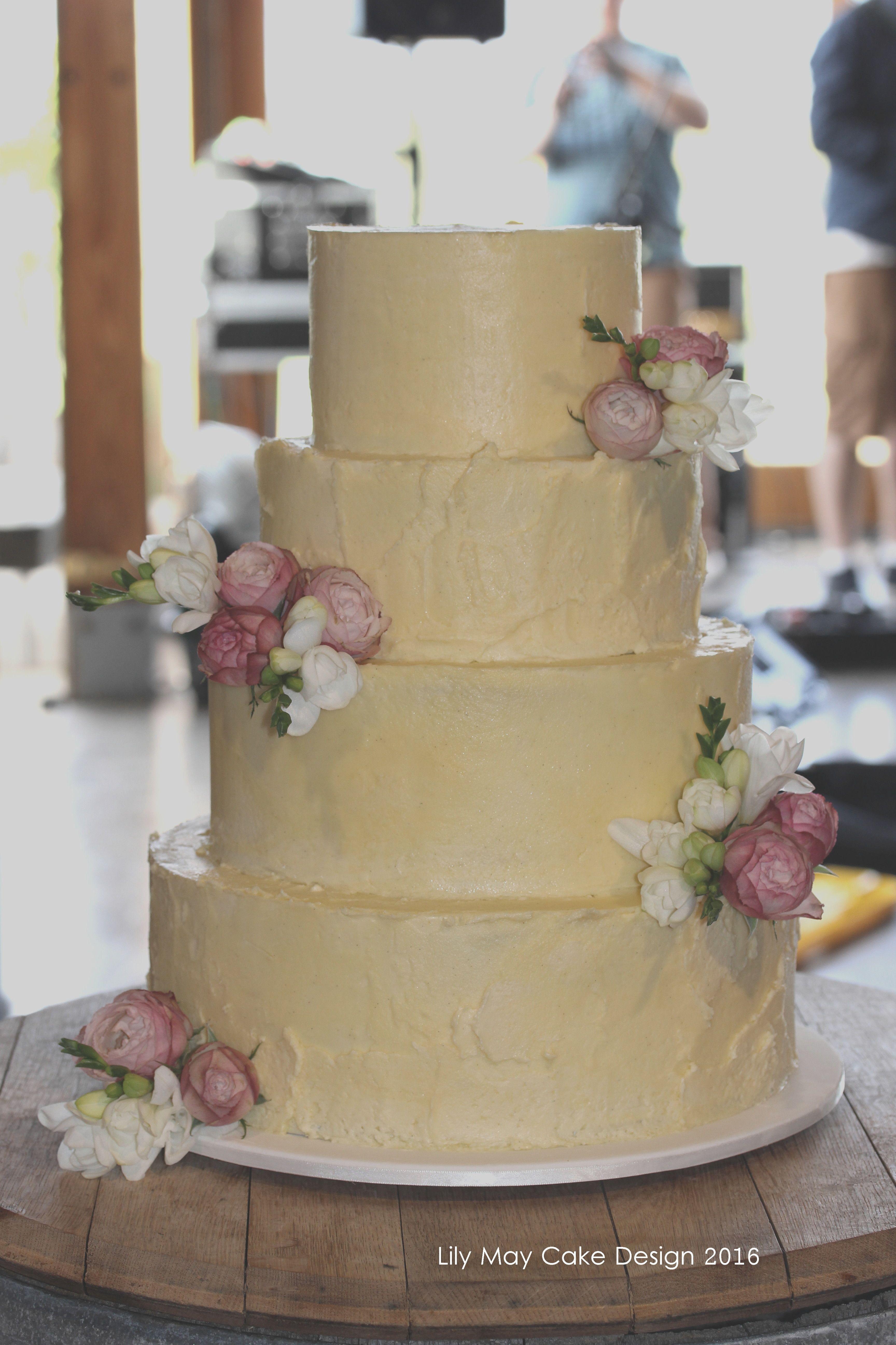 Swiss Meringue Ercream Wedding Cake