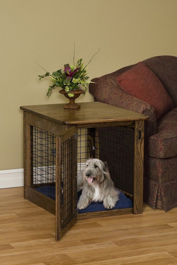 15 Stylish Pet Beds That Also Serve As Great Looking Tables Dog Crate End Table