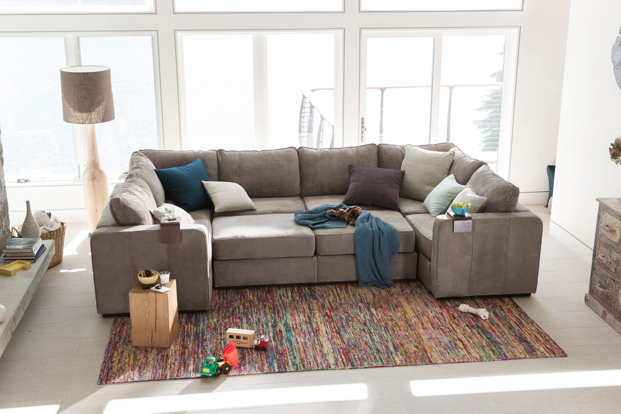 Oversized Modular Sectional Couch Gray Sectional Living Room