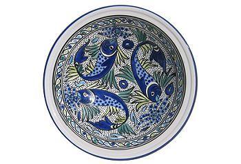 Tunisian Tableware | One Kings Lane  sc 1 st  Pinterest & Tunisian Tableware | One Kings Lane | Kitchen/Dining | Pinterest