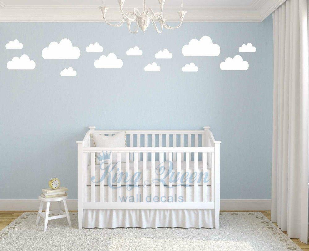 13 Clouds Decal Vinyl Wall Sticker Baby Nursery Kids Childrens ...