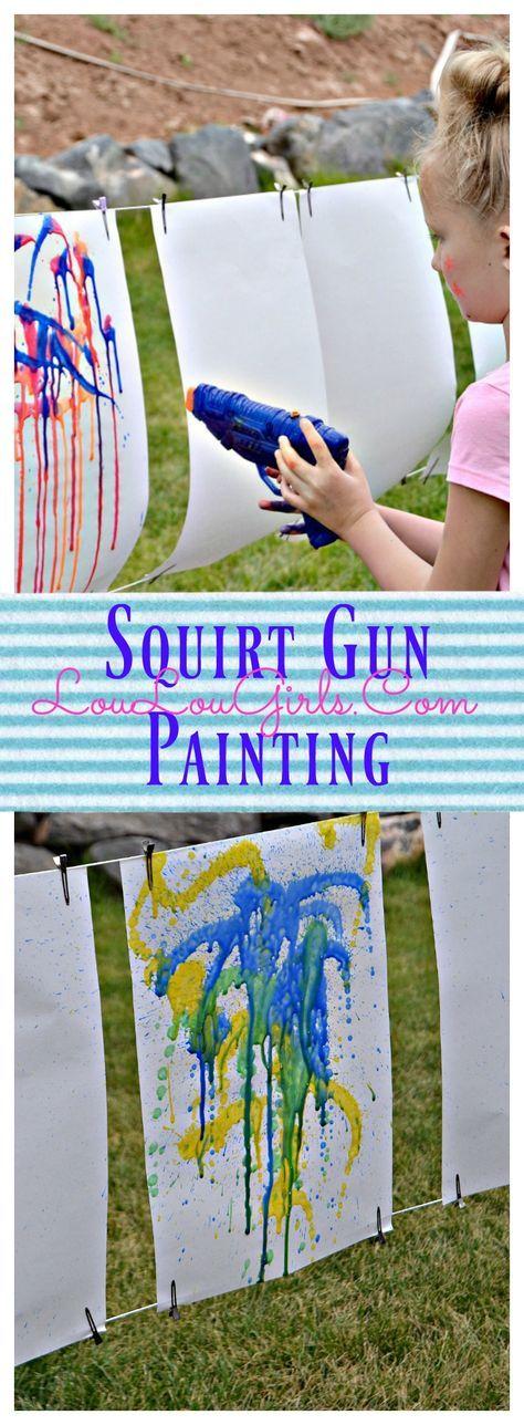 Photo of Squirt Gun Painting Tutorial – Lou Lou Girls