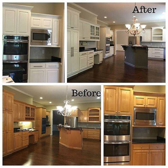 before and after of kitchen cabinets being painted white kitchen makeover kitchen cabinets on kitchen cabinets painted before and after id=49742