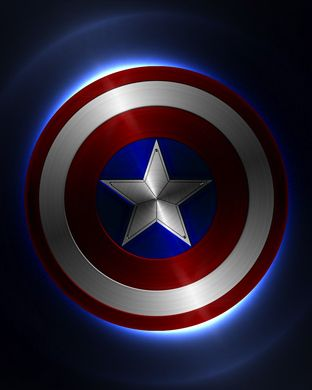 Captain America's Shield as background screen for Apple