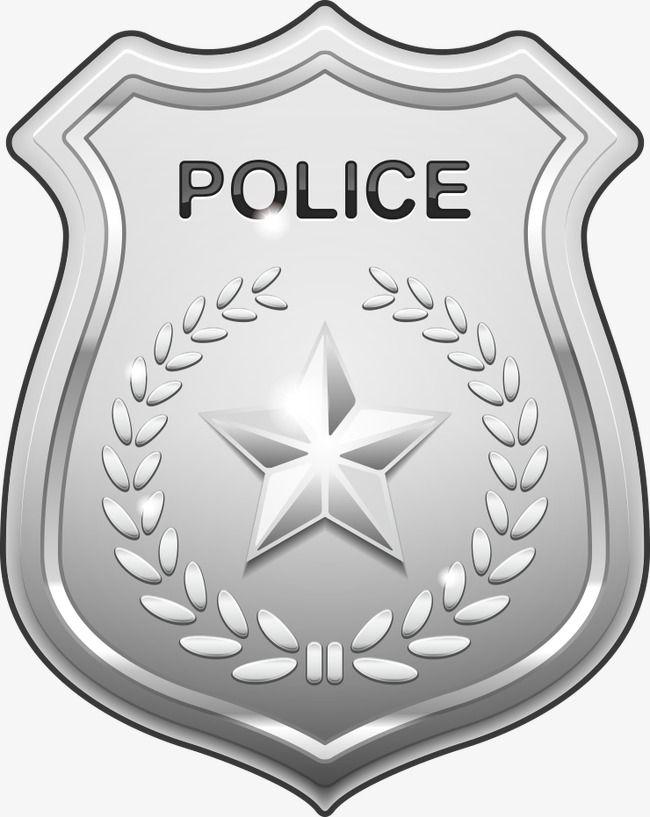 vector silver police badge police badge badge cartoon badge png rh pinterest com cartoon images of police badges Food Police Badge